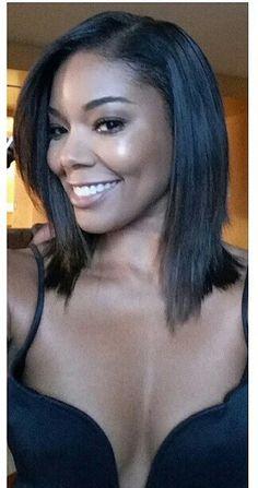 Gabrielle Union hair bob cut with layers