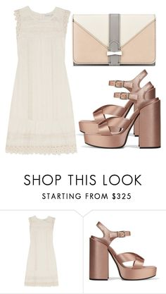 """""""Untitled #4017"""" by evalentina92 ❤ liked on Polyvore featuring Chelsea Flower, Jil Sander and Nine West"""