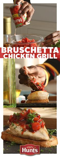 Looking for a fresh take on a favorite? This Bruschetta Chicken Grill recipe, topped off with Hunt's vine-ripened tomatoes, is the perfect easy-to-make meal for date night, family night, or just a night of treating yourself.