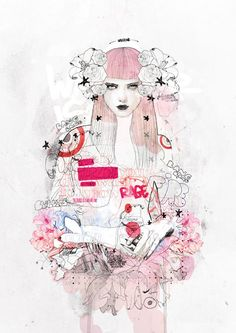 Feminine Illustrations by Brussels, Belgium based artist Raphael Vicenzi.