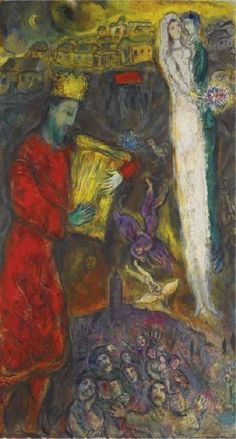 Marc Chagall, David, 1961 – 1963, oil and ink on canvas