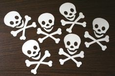 Skull and crossbones template for pirate party
