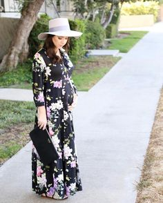 A new floral maxi dress perfect for fall and pregnant Mommas up on the blog today #fallstyle #ootd #maxidress #22weeks http://liketk.it/2p1Rr @liketoknow.it #liketkit