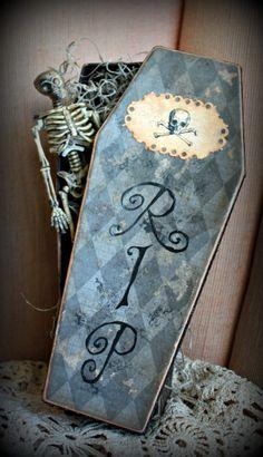 DIY Halloween coffin