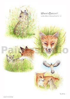 Nursery print water colour animal art children's by Paintzstudio