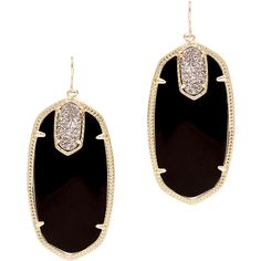 Rental Kendra Scott Darcy Earrings ($20) ❤ liked on Polyvore featuring jewelry, earrings, accessories, kendra scott, black, 14k earrings, 14 karat gold earrings, druzy jewelry, druzy earrings and 14 karat gold jewelry