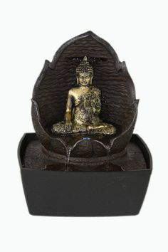 Buddha Indoor Tabletop Water Fountain Lotus Flower LED Light. Find It At  Www.jkspiritualgifts