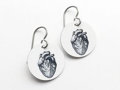 anatomy earrings graduation medical student gift by artaltered
