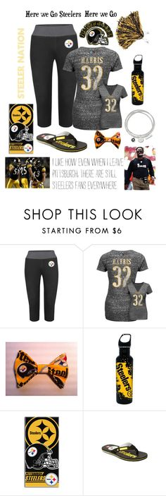"""Steeler Nation"" by kimbalee77 ❤ liked on Polyvore featuring Rival, The Northwest Company and Quiksilver"