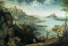 Landscape with Flight to Egypt. Pieter Bruegel the Elder. 1563 Oil on canvas. 37 x 56 cm. Courtauld Gallery. London.