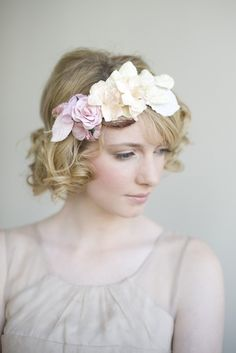 Vintagey flowers crown by Myrakim of Etsy, $135. #bridal