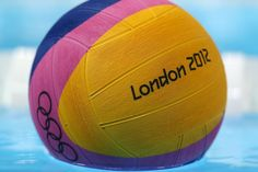 LONDON, ENGLAND - JULY 22: A detail of the ball during water polo training at the Olympic Park on July 22, 2012 in London, England. (Photo by Clive Rose/Getty Images)