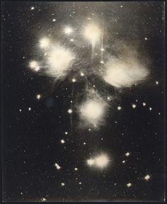Mount Wilson Observatory, The Pleiades, M45, +/- 1950 United States. Vintage silver print