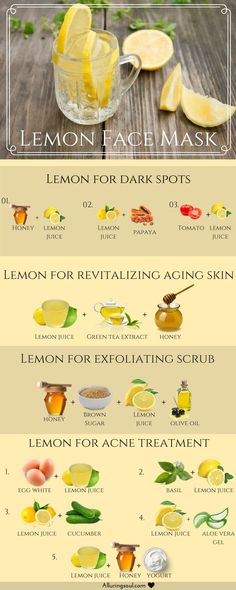 Lemons are rich in vitamin C and the flavonoids are said to contain antioxidants, which is why lemon face mask is useful for many skin problems.
