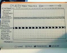 Monthly Bujo mood tracker .