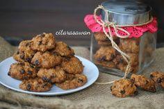 Biskut Oat Blackcurrant / Oatmeal Blackcurrant Cookies | Resipi Citarasawan