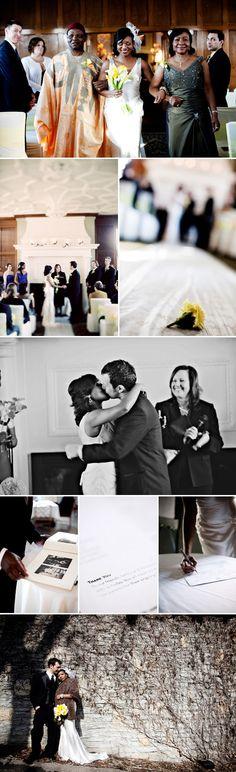 Interracial Wedding Beautiful | REAL Wedding: Cobalt, Chartreuse, Yellow & White - Project Wedding ...