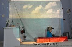 Play At Home Mom  I LOVE this blog!   It's filled with amazing play based learning ideas.  How cool is this use of a projector???