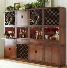 Harvey tobacco brown bar cabinet collection. .....at pier1