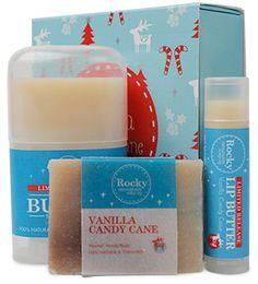 Vanilla Candy Cane Mini Tray - Vanilla Candy Cane - Rocky Mountain Soap Soap Company, Homemade Skin Care, Rocky Mountains, Candy Cane, Natural Skin Care, Glass Of Milk, Christmas Ideas, I Am Awesome, Vanilla
