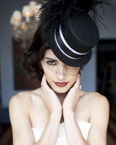 schwarz Farbe Hut schulterfrei weiße Farbe Satin Stoff
