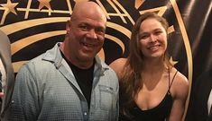 PHOTO: Ronda Rousey and Kurt Angle's training day in preperation for WrestleMania Ronda Rousey Wwe, Ronda Jean Rousey, Randa Rousey, Wrestlemania 29, Rowdy Ronda, Catch, Kurt Angle, Ufc Women, Wwe Champions