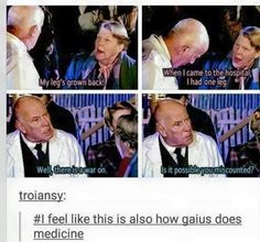I know this is from Torchwood/Doctor Who universe but it's funny in terms of Merlin<<<he even looks like gaius. Merlin Memes, Merlin Funny, Merlin Merlin, Fandoms, Merlin Fandom, Merlin And Arthur, Fandom Crossover, Haha, Dr Who