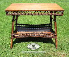 antique wicker table