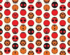 Charley Harper - Ladybugs - Organic Cotton Fabric from Birch Fabric