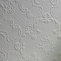 "Brewster Home Fashions Anaglypta Paintable Alfred Supaglypta 33' x 20.5"" Damask 3D Embossed Wallpaper"