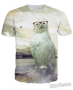 Geeky Owl T-Shirt - RageOn! - The World's Largest All-Over-Print Online Store