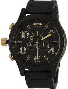 Nixon 51-30 Chrono Watch Matte Black/Gold One Size