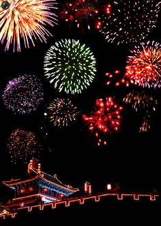 Fireworks explode during a celebration of the Lantern Festival in Pingyao, northern China's Shanxi province February 12, 2006. The Lantern Festival which falls on the 15th day of the first month of the Chinese lunar calendar, is traditionally a time for family reunions. REUTERS/China Daily