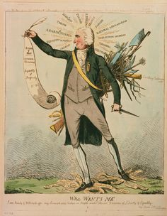 1792 political cartoon of the journalist and critic Thomas Paine