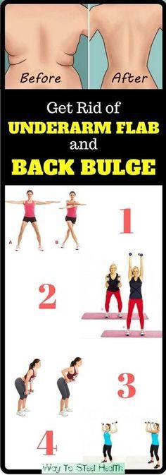 4 Quick Exercises to Get Rid of Underarm Flab and Back Bulge in 3 Weeks ...repinned für Gewinner! - jetzt gratis Erfolgsratgeber sichern www.ratsucher.de (Step Challenge)