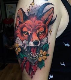 Find the perfect tattoo artist to create the work of art that is you Fox Tattoo, Wolf Tattoos, Animal Tattoos, Leg Tattoos, Body Art Tattoos, Girl Tattoos, Sleeve Tattoos, Tatoos, Trendy Tattoos