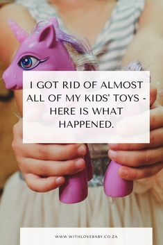 I Got Rid Of Almost All of My Kids' Toys - Here is What Went Down. I feel lighter, our home has less 'stuff' and our girls are more engaged with their toys. Baby Blog, Kids Toys, Rid, Shit Happens, Feelings, Children, Childhood Toys, Young Children, Boys