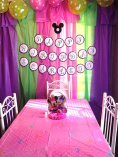 Birthday Party backdrop I did with plastic tablecloths.