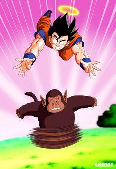 DBZ - Goku training with Bubbles