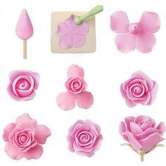 $3.39 - 6Pcs Rose Flower Cake Fondant Sugarcraft Mold Cutter Paste Decor Diy Tools #ebay #Home & Garden