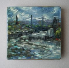 The River Tyne at Tynemouth. Oil on board.  A.M.23/06/2008