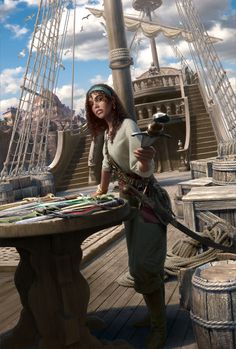Pirate Art, Pirate Woman, Pirate Life, Dungeons And Dragons Characters, Dnd Characters, Fantasy Characters, Fantasy Inspiration, Story Inspiration, Character Inspiration