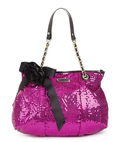 d7614ce928 Betsey Johnson Brasil Key Item Tote in Purple (pink- sequin) - Lyst