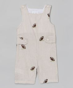 This Brown Football Appliqué Shortalls - Infant & Toddler is perfect! #zulilyfinds