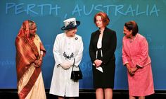 Royal Visit to Australia 2011 - I like this outfit worn by the Queen.hope to see it again soon. Hm The Queen, Her Majesty The Queen, Save The Queen, Blue And White Hats, Head Of Government, Queen Hat, Royal Uk, Weekend Events, Sports Pictures