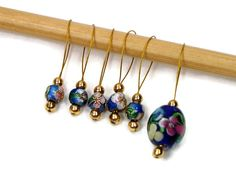 Beaded Stitch Markers Snag Free DIY Knitting by TJBdesigns on Etsy, $7.50