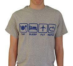 Eat, Sleep, Fly, Repeat, Aviation Shirt | Crewiser.com