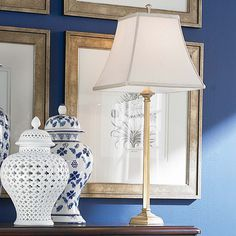 Love the contrast of the blue and white...