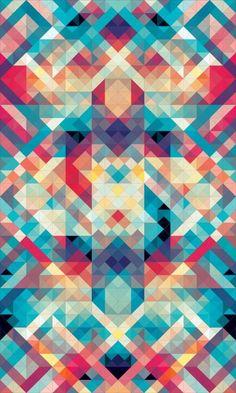 Geometric pattern for tribal feel Andy Gilmore - // Geometric Art: Illustration Arte, Motifs Textiles, Geometric Shapes, Geometric Designs, Geometric Artists, Pattern Wallpaper, Textures Patterns, Modern Art, Pattern Design