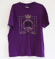 Banana-Republic-Graphic-Tee-T-Shirt-Purple-Mens-XL-Soft-Vintage-Style